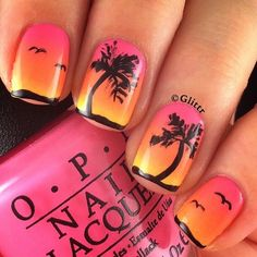 Summer Nail Art: Palm Tree Nail Designs