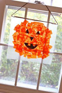 Tissue Paper Pumpkins