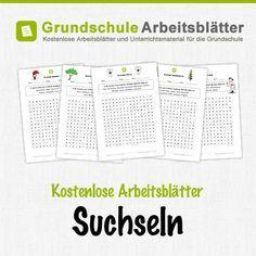 Kostenlose Arbeitsblätter und Unterrichtsmaterial zum Thema Suchseln in der Grundschule.