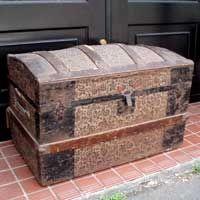 Trunk アンティーク船舶用トランク インテリア 雑貨 家具 Antique ¥38000yen 〆06月06日