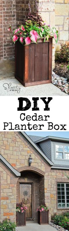 DIY Planter Boxes made from fence posts... LOVE these! @Shanty-2-Chic.com