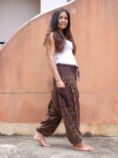 Harem  Pants ...Yoga Pants ..Leisure Pants ... Patchwork Stone Washed Yoga Pants, Harem Pants, Aladdin Pants, Patchwork Fabric, Cotton Lights, Hot Girls, Cotton Fabric, Unisex, My Style