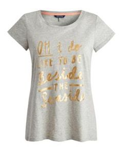 SEASIDE Womens Foil Printed T-Shirt