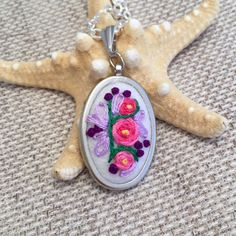 A personal favorite from my Etsy shop https://www.etsy.com/listing/212735049/floral-bouquet-necklace-hand-embroidered