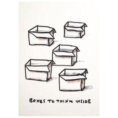 Boxes for all! ◻️◻️◻️◻️◻️◻️◻️◻️◻️ #thinkoutsidethebox #newideas #insideout #thinktank