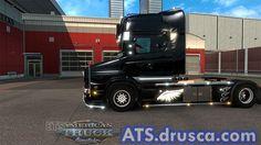 Skin Scania T RJL Black Angel American Truck Simulator, Black Angels, Dark Angels