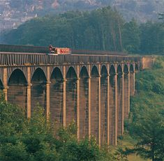 Pontcysyllte Aquaduct, Wales. Many a lovely walk along this canal route
