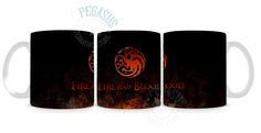 Caneca Game of Thrones - House Targaryen - Fire and Blood