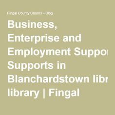 Business, Enterprise and Employment Supports in Blanchardstown library Free Space, Career Development, Business, Blog, Blogging, Store, Business Illustration
