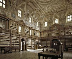 National Library Of The Girolamini Oratory, Naples, Italy (might have to add this to my 'must see when in Italy' list :)