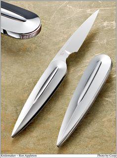 Ron Appleton folding knife. Image by SharpbyCoop.com.  I like this knife, sleek and stylish.