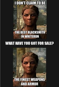 Skyrim blacksmith logic via Reddit user Luke4397