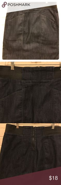 🆕💕DKNY Jeans Skirt Denim Blue Jean Skirt with elastic waistband 2 pocket in front of Skirt great for weekends on the go. Back zipper in good condition DKNY Skirts A-Line or Full