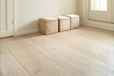 light wooden floor with structure White Wooden Floor, Light Wooden Floor, Antique Wax, Wooden Flooring, White Oak, Tile Floor, Living Room Decor, Interior Design, Antiques