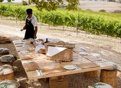 Vineyard picnic table