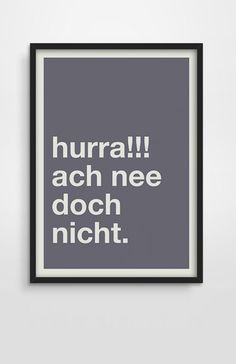 Digitaldruck - Hurra! – Poster-Print-Geschenk - ein Designerstück von Pap-Seligkeiten bei DaWanda