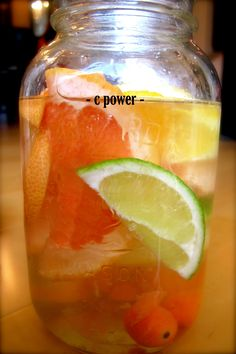 C Power Vitamin Water- This vitamin water gives you a boost of anti-viral and anti-inflammatory vitamin C.