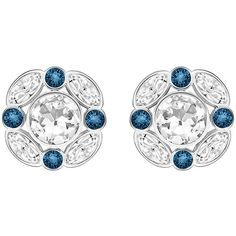 Swarovski Diva Earrings (€72) ❤ liked on Polyvore featuring jewelry, earrings, blue earrings, swarovski earrings, sparkle jewelry, swarovski jewelry and sparkly earrings