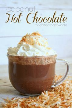Coconut Hot Chocolate from The Crafted Sparrow {Christmas Tradition Series}
