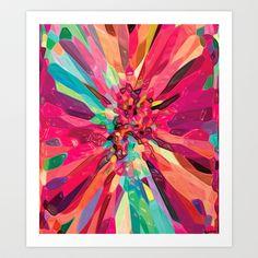 Bursting Art Print by Ingrid Padilla  - $20.00