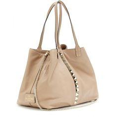 Valentino Va Va Voom Rockstud Small Leather Shopper ($1,862) ❤ liked on Polyvore