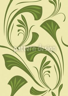 Art-Nouveau-Leaves-Pattern, designed by Martina Stadler    High-quality Vector Pattern from patterndesigns.com