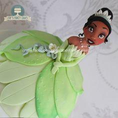 Disney Princess Tiana Doll Cake Tutorial on Cake Central Doll Cake Tutorial, Fondant Tutorial, Doll Birthday Cake, Baby Birthday, Disney Princess Tiana, Princess Tiara, Zoes Fancy Cakes, Princess Theme Party, Fondant Cake Toppers