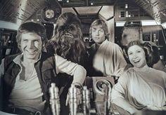 The crew of the Millennium Falcon