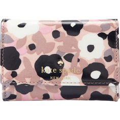 Kate Spade New York Cedar Street Floral Darla Small Wallet (4.630 RUB) ❤ liked on Polyvore featuring bags, wallets, pink, floral print bags, kate spade bags, flower print bag, pink bag and floral wallet