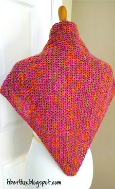 Fiber Flux...Adventures in Stitching: Free Crochet Pattern...Zinnia Flower Shawl!