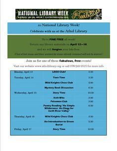 April 12-18 is #NationalLibraryWeek 2015!!