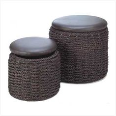 Nested Storage Ottoman Set - traditional - ottomans and cubes - - by Home 'n Gifts Secret Storage, Hidden Storage, Ottoman Furniture, Storage Sets, Storage Containers, Small Living Rooms, Home Deco, Outdoor Decor, Outdoor Living