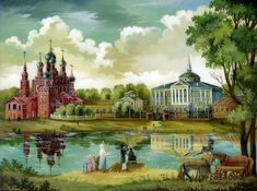 Федоскинская миниатюра. Часть 1. Русь святая, купола златые!