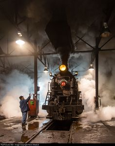 RailPictures.Net Photo: NN 93 Nevada Northern Railway Steam 2-8-0 at Ely, Nevada by Kevin Madore