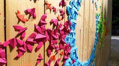 Zupi / Street art com origamis