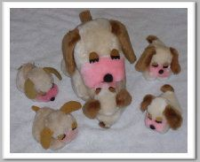 vintage cream puff dogs