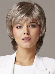 Cheap Grey Wavy Capless Short Wigs help you achieve a beautiful and natural hair style. Pick from our large collection of different types of woman wigs. Medium Shag Hairstyles, Smart Hairstyles, Wig Hairstyles, Senior Hairstyles, Short Hair With Layers, Short Hair Cuts For Women, Short Hairstyles For Women, Medium Hair Styles, Curly Hair Styles