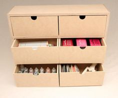 The Stamp-n-Storage Six Drawer Storage is designed to improve the cleanliness of your work area by providing you with drawers for small items to be tucked away and out of sight. Craft Drawer Organization, Craft Storage Drawers, Diy Drawers, Craft Room Storage, Diy Storage, Storage Ideas, Craft Rooms, Organization Ideas, Stationary Organization