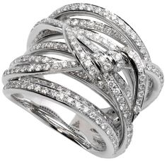 Stephen Webster 'Forget Me Knot' Wrap Barb ring set in 18ct white gold with white diamonds. Via The Jewellery Editor.