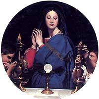 [La virgen ante el Sacramento de J. A. Ingres] Oraciones para el Corpus Christi.