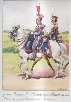 Trombettiere furiere alta uniforme di servizio 1807-1814