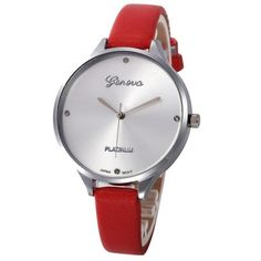 Ladies Bracelet Geneva Watch PU Leather Analog Quartz Wrist Watch Women Clock