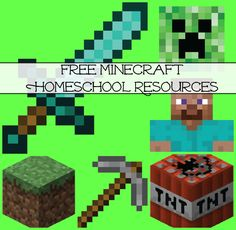 Free Minecraft Homeschool Resources Oh Minecraft, how so many kiddos love you! Here's a fun list of free Minecraft homeschool resources that includes free Minecraft printable, Minecraft craft ideas, Minecraft snacks, and Minecraft games. Minecraft Classroom, Minecraft School, Minecraft Games, Minecraft Crafts, Minecraft Skins, Preschool Learning, Fun Learning, Teaching, Free Homeschool Curriculum