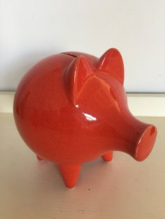 A personal favourite from my Etsy shop https://www.etsy.com/uk/listing/536360685/vintage-retro-bright-red-ceramic-piggy