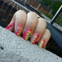 Happy #watermarble #nails. #nailart