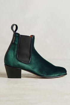 Slide View: 2: Penelope Chilvers Velvet Chelsea Boots