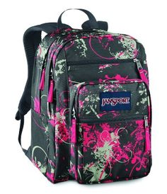 Jansport Big Student Backpack Black White Doodle | Jansport ...