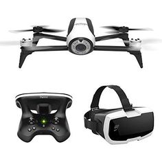 Parrot Bebop 2 Pack de Drone/Lunette FPV/Skycontroller pour Smartphone/Tablette: Drone léger, compact et robuste de 500g avec une autonomie…