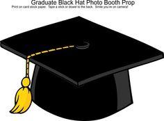 Graduation Black Hat Photo Booth Prop