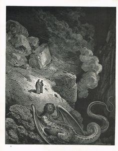 La Divine Comédie - L'enfer - illustration de Gustave Doré gravée par Monvoisin - planche 40